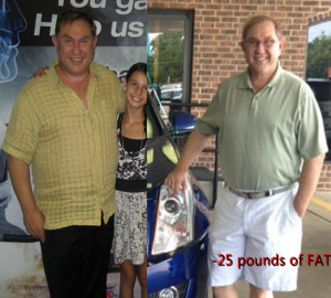 Before and after losing 25 pounds